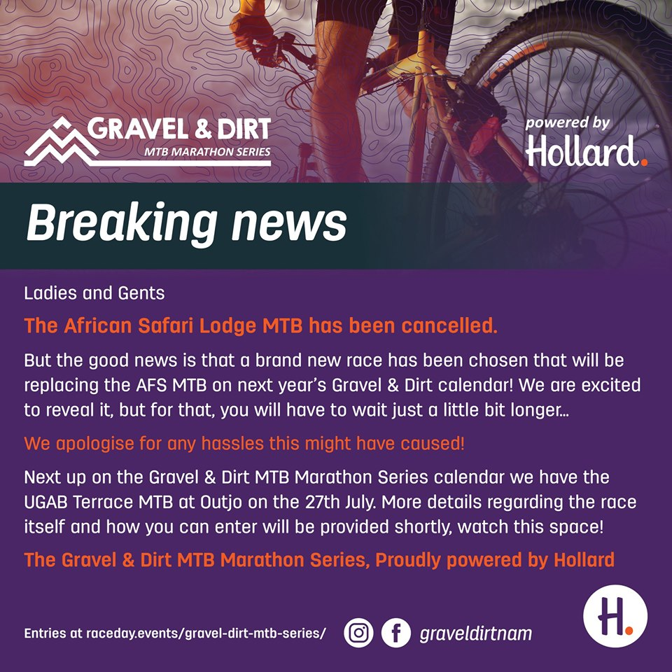 African Safari Lodge MTB Has Been Cancelled